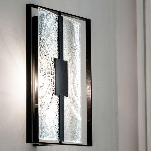 Applique Black & Light - rectangulaire - Arthylé by Natacha MONDON & Eric PIERRE