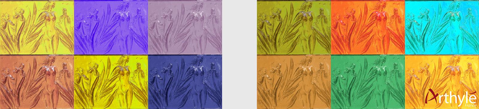 Bandeau mosaïque pastel Logo - Natacha MONDON _ Eric PIERRE pour Arthylé